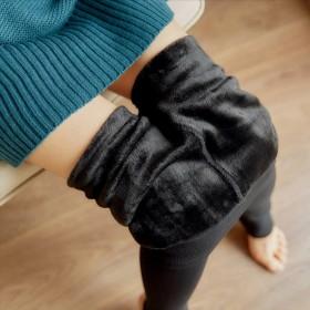 珍珠绒不起球打底裤韩版秋冬女士加绒加厚外穿显瘦一体
