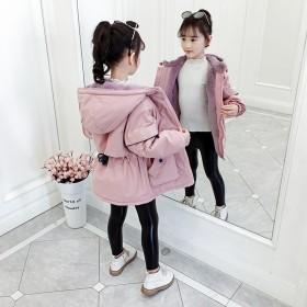 女童洋气棉衣冬装2019新款中大童加绒加厚儿童棉服