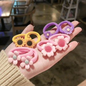 【套餐活动】6个儿童花朵发圈  江币业承