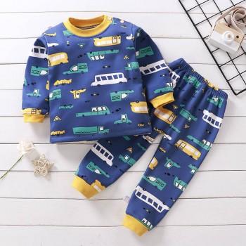 儿童保暖秋衣秋裤套装0-7岁男童女童宝宝加绒卡通睡