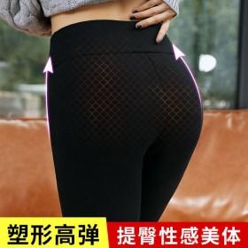超厚羊羔绒打底裤女裤学生冬季加绒加厚