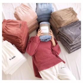 网红仙女暖暖运动裤女冬季保暖珊瑚绒休闲宽松睡裤居家