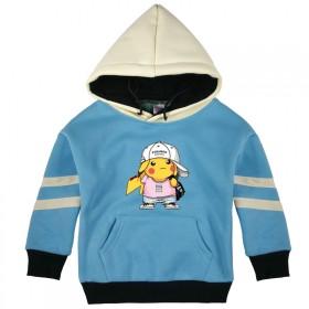 儿童装男童中小童加绒加厚连帽卫衣