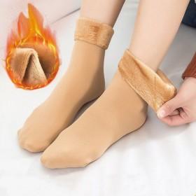 5双雪地袜子女加绒加厚雪天保暖地板袜秋冬中筒家居袜