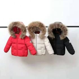 2019冬季新款儿童羽绒服貉子毛领男童女童加厚外套