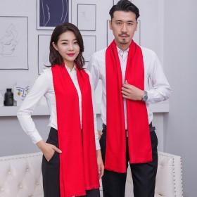 年会大红围巾一条