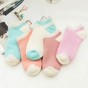 四季可传薄款袜子女士韩版纯色浅口隐形女袜可爱短筒