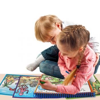 儿童神奇清水画本涂色填色书本幼儿园魔法涂水画册包邮