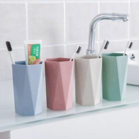 几何菱形刷牙杯漱口杯喝水杯子 家用情侣牙刷杯洗漱杯