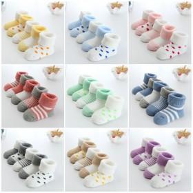 婴幼儿童春秋冬季加厚棉袜五双装0-3岁