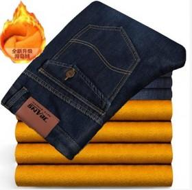 冬季男士牛仔裤宽松直筒休闲裤