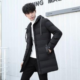 棉衣男冬季新款棉服男韩版大码中长款加厚棉袄冬装外套