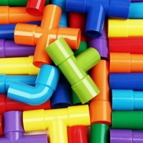 管道积木玩具智力开发拼装玩具拼图方块