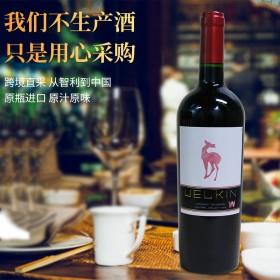琼津赤霞珠红酒葡萄酒智利原瓶进口圣丽塔集团