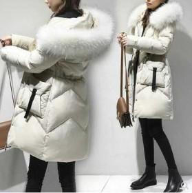 大码女装羽绒棉服中长款冬装新款棉袄加厚棉衣外套