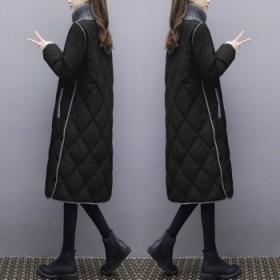 羽绒棉服女中长款韩版大码宽松加厚棉衣过膝棉袄外套