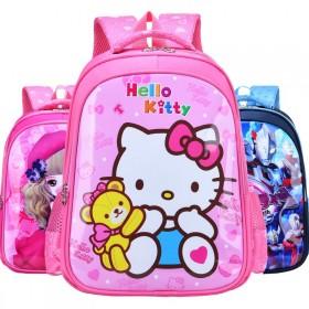 儿童书包小学生1-3年级6-10岁男生女孩卡通猫猫
