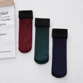 冬季加厚加绒两条装雪地袜保暖加厚加绒袜子新款中筒袜