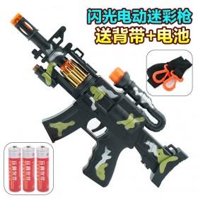 儿童玩具枪无子弹枪男孩电动仿真手枪冲锋枪音乐迷彩枪