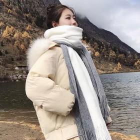 新款围巾女冬季韩版加厚披肩情侣毛线针织围巾
