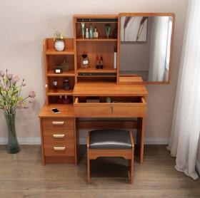 梳妆台卧室小户型实木化妆桌经济型多功能人造板合成板