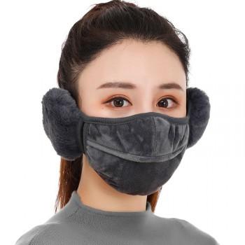 口罩女冬季二合一保暖面罩耳罩加厚骑行防风防寒透气