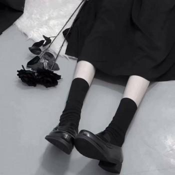 新款2019可爱长筒学院风百搭原宿风ins堆堆袜潮