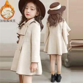 女童毛呢外套新款秋冬韩国儿童洋气中大童呢子大衣潮