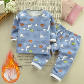 男女儿童童装宝宝冬装加绒保暖内衣套装中小童0-6岁