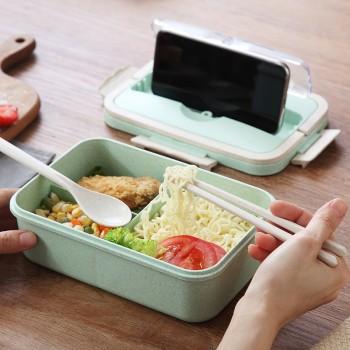 创意手提学生饭盒便携可爱健身餐盒上班族便当盒