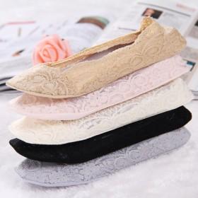 蕾丝袜船袜女潮纯棉袜底夏薄款浅口韩版可爱日系隐形硅