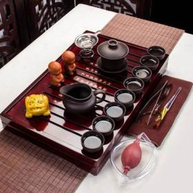 茶盘紫砂泡茶壶杯陶瓷玻璃配件功夫茶具套装家用整套