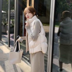 19秋冬新款韩版小个子棉马甲女秋冬保暖上衣短外套