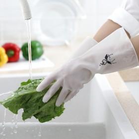 洗碗手套女防水薄款厨房耐用洗衣服刷碗胶皮清洁家务
