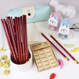 50支装铅笔套装小学生红木铅笔儿童学习