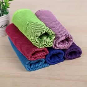 运动毛巾吸汗健身降温冰巾冷感冰毛巾速干魔幻冰丝跑步