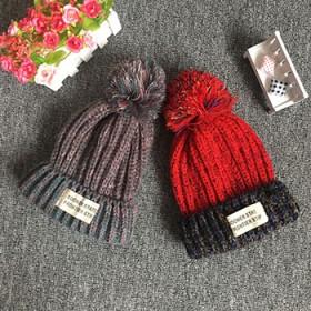 儿童保暖帽子秋冬针织帽毛线加厚加绒男童女童帽子