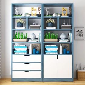 书架书柜简易书架收纳柜置物架卧室学生书架柜子储物柜