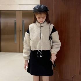 羊羔毛卫衣女短款吊带裙两件套单件/套装时尚