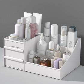 抽屉式化妆品收纳盒整理护肤桌面梳妆台面膜口红置物架