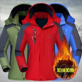 冲锋衣男女户外一体秋冬季保暖登山服防寒风水加绒加厚