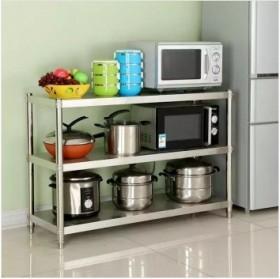 加厚不锈钢厨房置物架储物架微波炉架子收纳架