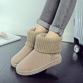 经典雪地靴女学生短筒简约棉鞋女新款冬季保暧加绒加厚