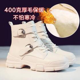 马丁雪地靴女新款冬季百搭秋冬加绒瘦瘦短靴厚底棉鞋