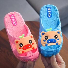 儿童凉拖鞋夏季女童男童浴室内家居防滑卡通可爱包头鞋