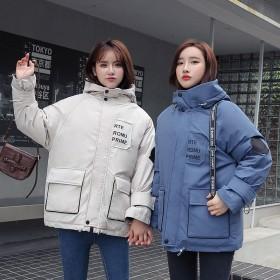 工装棉服女冬韩版宽松bf加厚短款