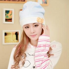 2个装秋冬防风坐月子帽子纯棉孕妇帽产妇头巾冬季厚款