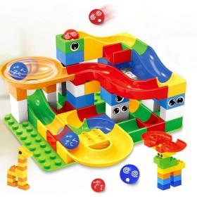 百变滑道儿童大颗粒滚珠积木拼装玩具益智轨道男孩积木