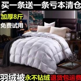8斤羽绒被加厚保暖白鸭绒被子星级酒店加厚被芯