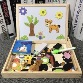 儿童磁性拼图男孩女孩宝宝益智力开发多功能玩具2-3
